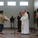 Bishop Mulvey blesses new religious education building